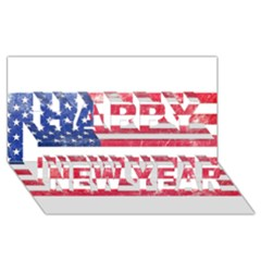 Usa8 Happy New Year 3d Greeting Card (8x4)