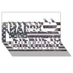 Usa9 Happy Birthday 3d Greeting Card (8x4)