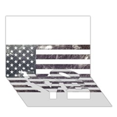 Usa9 LOVE Bottom 3D Greeting Card (7x5)