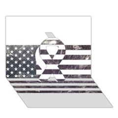 Usa9 Ribbon 3d Greeting Card (7x5)