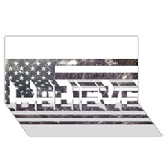 Usa9 BELIEVE 3D Greeting Card (8x4)