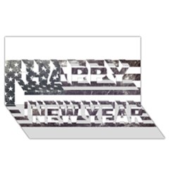 Usa9 Happy New Year 3d Greeting Card (8x4)