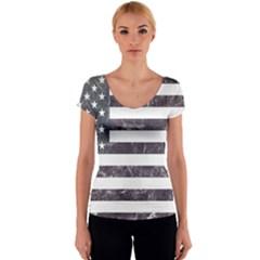 Usa9 Women s V-Neck Cap Sleeve Top