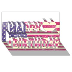 Usa99 Happy Birthday 3D Greeting Card (8x4)