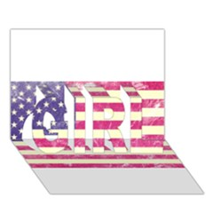 Usa99 GIRL 3D Greeting Card (7x5)