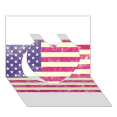 Usa99 Heart 3d Greeting Card (7x5)