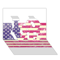 Usa99 LOVE 3D Greeting Card (7x5)
