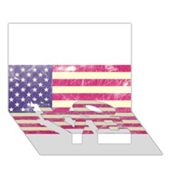 Usa99 LOVE Bottom 3D Greeting Card (7x5)