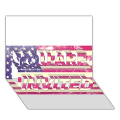 Usa99 You Are Invited 3d Greeting Card (7x5)