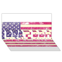 Usa99 BEST BRO 3D Greeting Card (8x4)