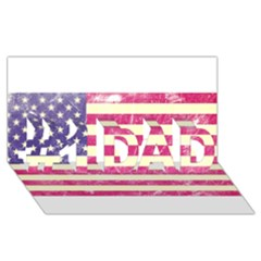 Usa99 #1 DAD 3D Greeting Card (8x4)