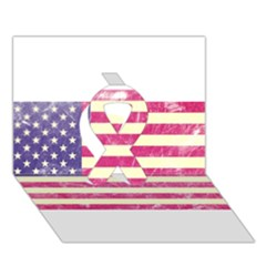 Usa99 Ribbon 3D Greeting Card (7x5)