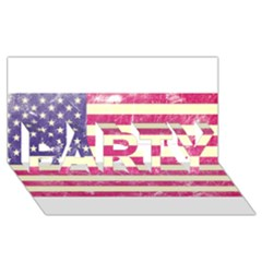 Usa99 PARTY 3D Greeting Card (8x4)