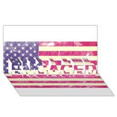 Usa99 ENGAGED 3D Greeting Card (8x4)
