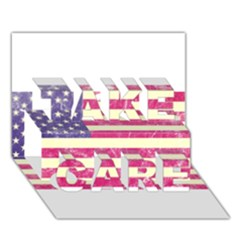 Usa99 Take Care 3d Greeting Card (7x5)