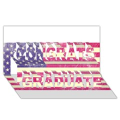 Usa99 Congrats Graduate 3D Greeting Card (8x4)