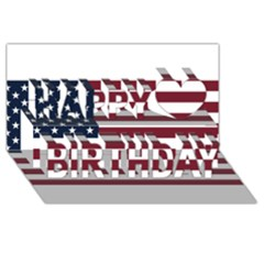 Usa999 Happy Birthday 3D Greeting Card (8x4)