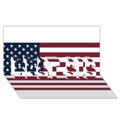 Usa999 Best Sis 3d Greeting Card (8x4)