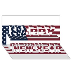 Usa999 Happy New Year 3d Greeting Card (8x4)