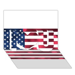 Usa9999 I Love You 3D Greeting Card (7x5)