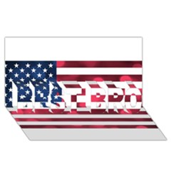 Usa9999 BEST BRO 3D Greeting Card (8x4)