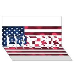 Usa9999 BEST SIS 3D Greeting Card (8x4)
