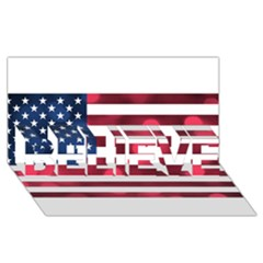 Usa9999 BELIEVE 3D Greeting Card (8x4)