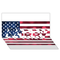 Usa9999 SORRY 3D Greeting Card (8x4)