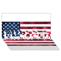 Usa9999 ENGAGED 3D Greeting Card (8x4)