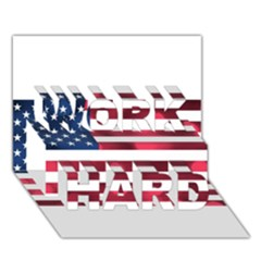 Usa9999 WORK HARD 3D Greeting Card (7x5)