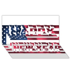 Usa9999 Happy New Year 3D Greeting Card (8x4)