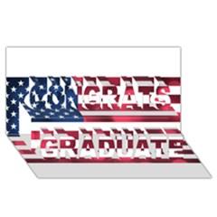 Usa9999 Congrats Graduate 3D Greeting Card (8x4)