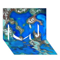 Cocos Reef Sinkholes I Love You 3D Greeting Card (7x5)