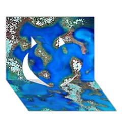 Cocos Reef Sinkholes Heart 3D Greeting Card (7x5)