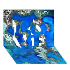 Cocos Reef Sinkholes Love 3d Greeting Card (7x5)
