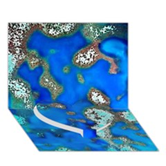 Cocos Reef Sinkholes Heart Bottom 3d Greeting Card (7x5)