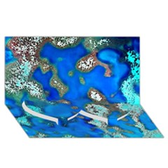 Cocos Reef Sinkholes Twin Heart Bottom 3D Greeting Card (8x4)