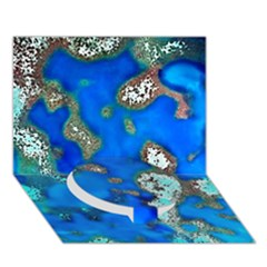 Cocos Reef Sinkholes Circle Bottom 3D Greeting Card (7x5)