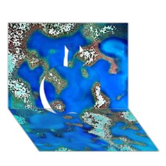 Cocos Reef Sinkholes Apple 3d Greeting Card (7x5)