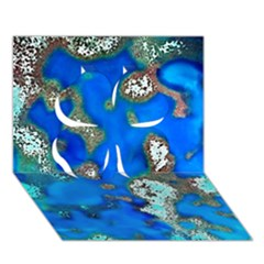 Cocos Reef Sinkholes Clover 3d Greeting Card (7x5)