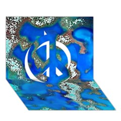 Cocos Reef Sinkholes Peace Sign 3D Greeting Card (7x5)