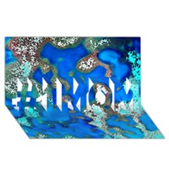 Cocos Reef Sinkholes #1 Mom 3d Greeting Cards (8x4)