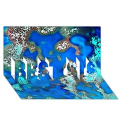Cocos Reef Sinkholes Best Sis 3d Greeting Card (8x4)