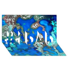 Cocos Reef Sinkholes #1 DAD 3D Greeting Card (8x4)