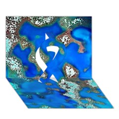 Cocos Reef Sinkholes Ribbon 3D Greeting Card (7x5)
