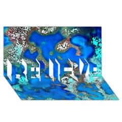 Cocos Reef Sinkholes Believe 3d Greeting Card (8x4)
