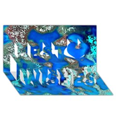 Cocos Reef Sinkholes Best Wish 3D Greeting Card (8x4)