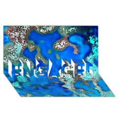 Cocos Reef Sinkholes Engaged 3d Greeting Card (8x4)