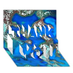 Cocos Reef Sinkholes THANK YOU 3D Greeting Card (7x5)