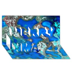 Cocos Reef Sinkholes Merry Xmas 3D Greeting Card (8x4)